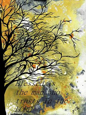 Painting - Blessed Is The Man Who Trusts In The Lord by Saribelle Rodriguez