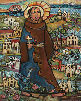 Religious Painting - Blessed Junipero Serra by Jen Norton