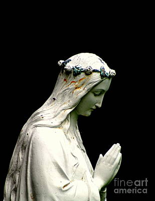 Photograph - Blessed Mary Statue Praying In New Orleans Louisiana by Michael Hoard