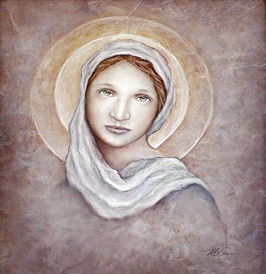 Zin Painting - Blessed Mother by Mary Zins