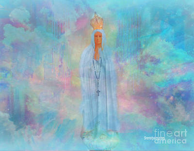Mother Mary Digital Art - Blessed Mother Of Jesus by Sherri's Of Palm Springs