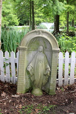 Photograph - Blessed Mother Statue - The Myrtles Plantation by Beth Vincent