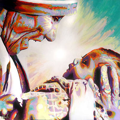 Calcutta Painting - Blessed Mother Teresa by Steve Gamba