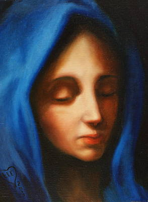 Mother Theresa Painting - Blessed Mother by Theresa Cangelosi