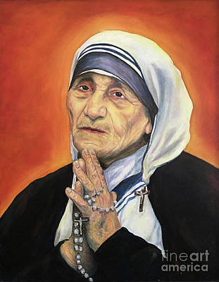 Mother Teresa Painting - St Teresa Of Calcutta by Laura Napoli
