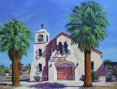 Blessed Sacrament Church 29 Palms Original by Matthew Pinkey