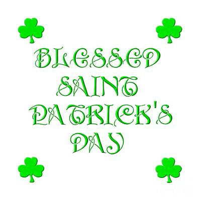 Digital Art - Blessed Saint Patricks Day by Rose Santuci-Sofranko