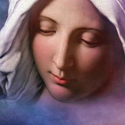 Rosary Digital Art - Blessed Virgin Mary by Andy Schmalen