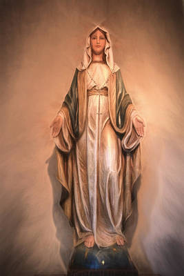 Photograph - Blessed Virgin Mary by Donna Kennedy