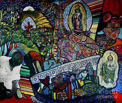 Blessing Of El Pescadero Mural Print by Angelina Marino