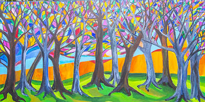 Painting - Blessing Trees 1 by Wendy Le Ber