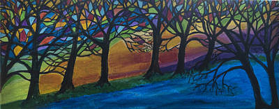 Painting - Blessing Trees 2 by Wendy Le Ber