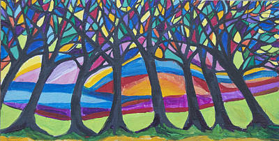 Painting - Blessing Trees 3 by Wendy Le Ber