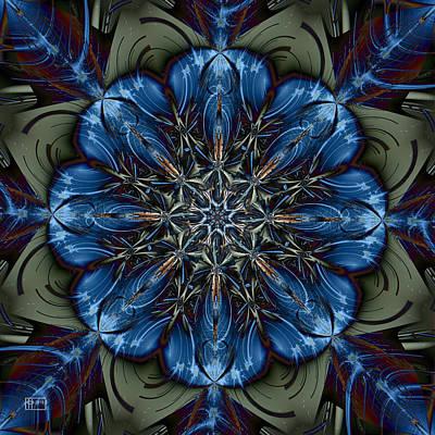 Digital Art - Bleu Belle by Jim Pavelle