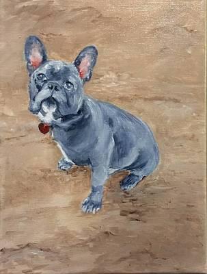 Painting - Bleu by Ellen Canfield