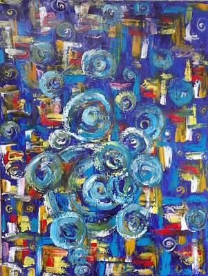 Painting - ''bleu,red And Yellow'' by Asia Dzhibirova