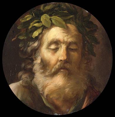 Pier Francesco Mola Painting - Blind Homer by Pier Francesco Mola