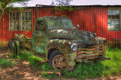 Photograph - Blind In One Eye 1947 Chevy Flatbed Truck Art by Reid Callaway