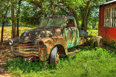1947 Dodge Truck Photograph - Blind In One Eye2 1947 Chevy Flatbed Truck by Reid Callaway