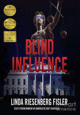 Digital Art - Blind Influence Audiobook Cover by Linda Riesenberg Fisler