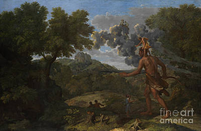 Orion Painting - Blind Orion Searching For The Rising Sun  by Celestial Images