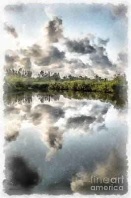 Photograph - Blind Pass Bayou Sanibel Island Florida by Edward Fielding