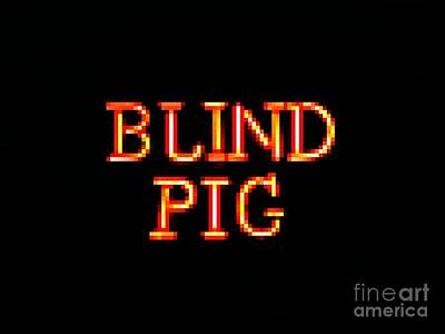 Photograph - Blind Pig Edited by Kelly Awad