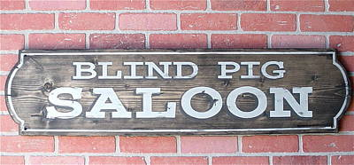 Blind Pig Saloon Original by Tom Colla