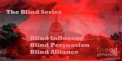 Painting - Blind Series Logo by Linda Riesenberg Fisler
