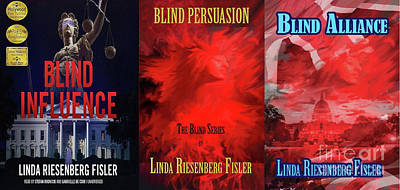 Painting - Blind Series Novels/audiobook Covers by Linda Riesenberg Fisler