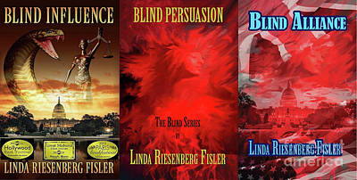 Painting - Blind Series Novels by Linda Riesenberg Fisler