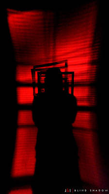 Red Photograph - Blind Shadow by Jonathan Ellis Keys