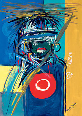Flags Painting - Blind To Culture by Oglafa Ebitari Perrin
