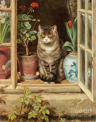 Blinking In The Sun Art Print by Ralph Hedley