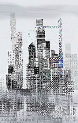 Skyscraper Mixed Media - Blip 2  by Andy  Mercer