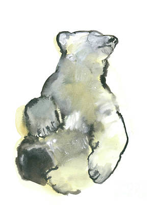 Bear Painting - Bliss by Mark Adlington
