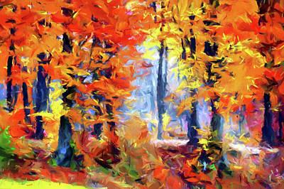 Digital Art - Blissful Autumn Impressionism by Georgiana Romanovna