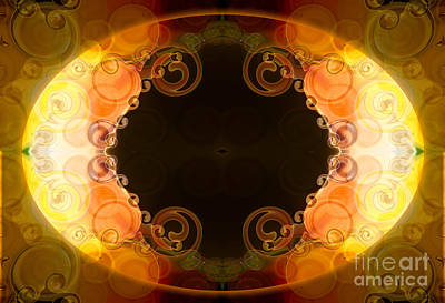 Digital Art - Blissful Circles Abstract Organic Art By Omaste Witkowski by Omaste Witkowski
