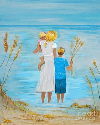 Painting - Blissful Day by Leslie Allen