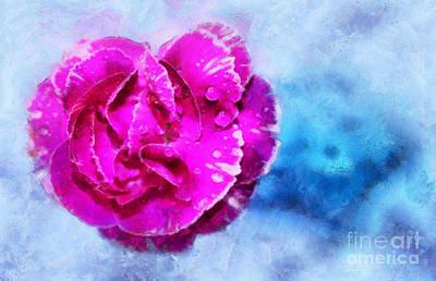 Abstract Digital Photograph - Blissful Pink by Krissy Katsimbras