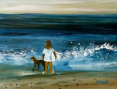 Painting - Blissful Sea by Christina Schott
