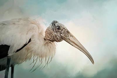 Stork Mixed Media - Blissful Stork by Georgiana Romanovna