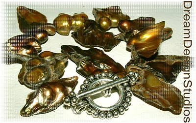 Sterling Silver Bracelet Jewelry - Blister Pearls In Bronze by Donna  Phitides