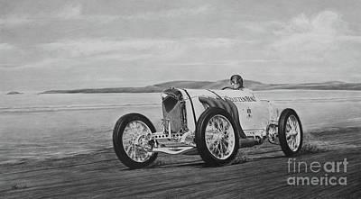 Racecar Drawing - Blitzenbenz by Mario Pichler