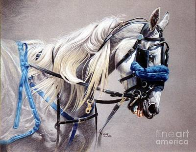 Colored Pencil Painting - Blizzard Babe by Carrie L Lewis