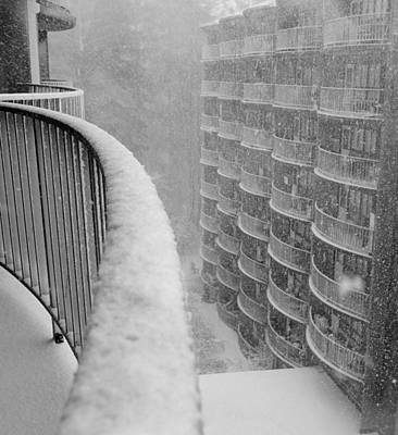 Photograph - Blizzard Balconies by Lori Pessin Lafargue