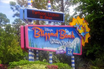 Photograph - Blizzard Beach Sign by David Lee Thompson