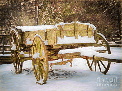 Mabry Mill Painting - Blizzard Bound II by Dan Carmichael