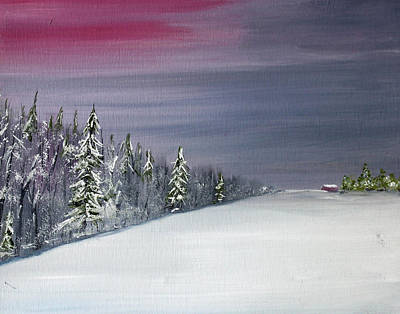 Painting - Blizzard Coming by Jack G  Brauer
