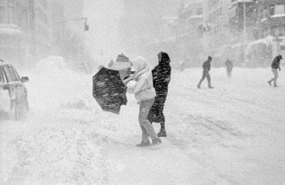 Photograph - Blizzard On Third Ave by Dave Beckerman